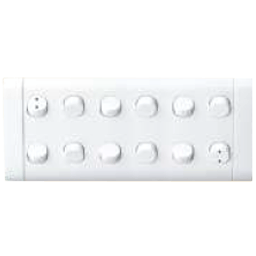 Finolex 10A 1 Way 10 and 10A 2 Way 2 Switches in 12G Plate