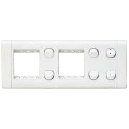 Finolex 10A 1 Way 4 and 10A 2 Way 2 Switches in 2 Cavity Plate