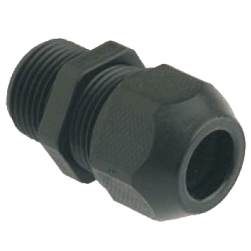 HENSEL MAKE 10.0-17.0MM DIA SYTEC BLACK RAL 9005 LONG ENTRY THREAD METRIC IP 68 (WITH ONE PIECE SEALING RING)