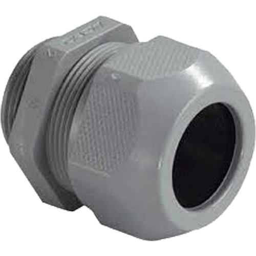 HENSEL MAKE 11.5-18.0MM DIA SYTEC DARK GREY RAL 7001 ENTRY THREAD METRIC IP 68 (WITH ONE PIECE SEALING RING)