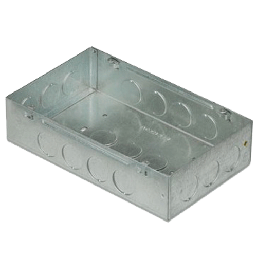 ANCHOR 21780 CONCEALED GI SHEET METAL BOXES 1 OR 2 MODULE
