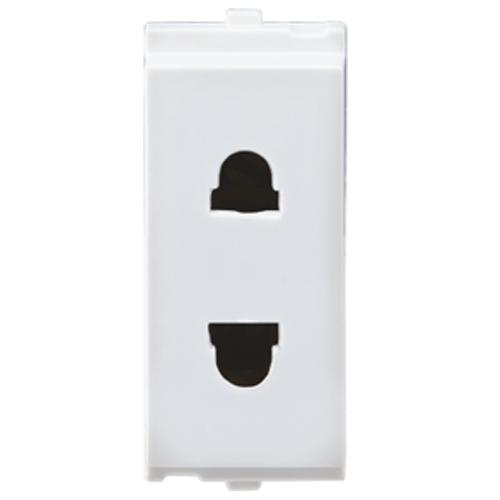 L&T MAKE 6A 1 MODULE 2-PIN URO SOCKET COLOUR WHITE