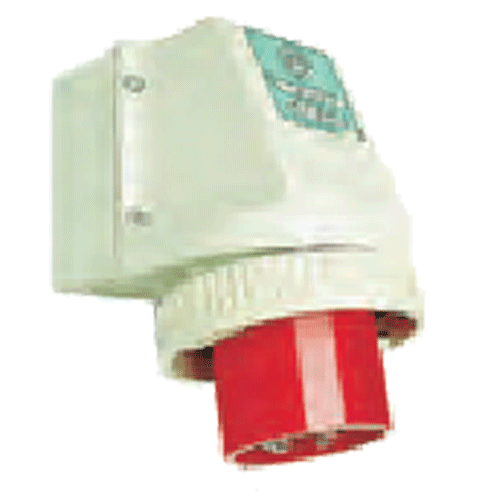 HENSEL MAKE 125A 2 POLE + EARTHING APPLICATION PLUG FOR WALL MOUNTING IP 67