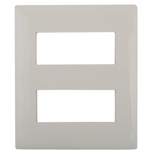 LEGARND MYLINC 8M 4x2 MODULAR PLATE COLOUR WHITE