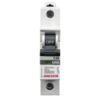 Anchor 20A Single Pole C Curve Uno MCB