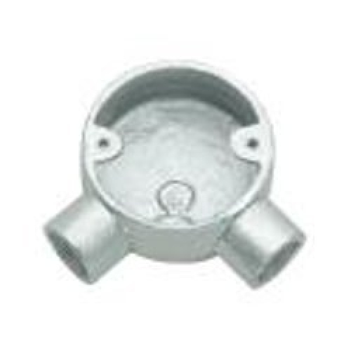 POLYCAB 20MM UPVC CONDUIT FITTING CIRCULAR BOX-ANGLE 2 WAY