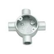 POLYCAB 20MM UPVC CONDUIT FITTING CIRCULAR BOX -INTERSECTION 4 WAY
