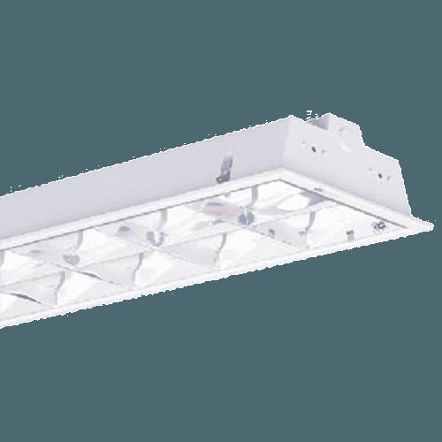 CGLCommercial Luminaire COMM RECESS MTG 2X40W FTL -EB Al PARABOL