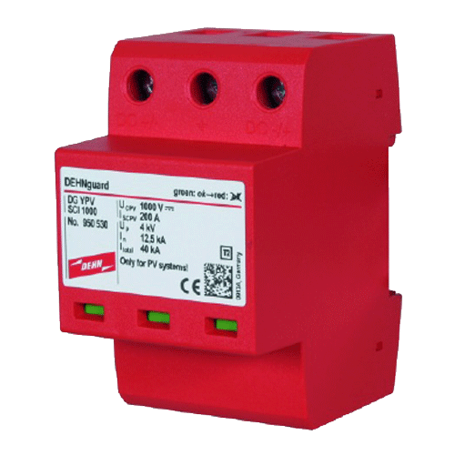 DEHN MAKE CORD TYPE 2 2-POLE ELECTRIC INSTALLATION SYSTEMS SURGE ARRESTER 900430