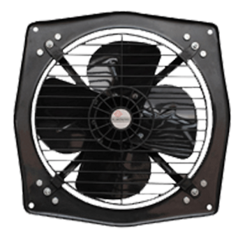 Almonard 150mm 6 Inch Fresh Air Fan Colour Black Metal Blade