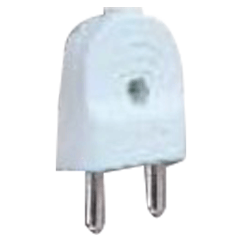 GREAT WHITE MAKE PETRA 2 PIN PLUG TOP COLOUR WHITE