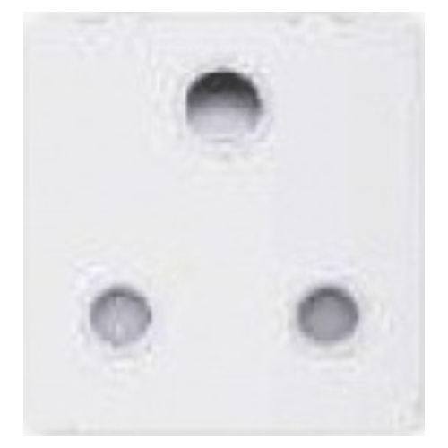 GREAT WHITE MAKE FIANA 16A 3 PIN SOCKET WITH ISI COLOUR WHITE
