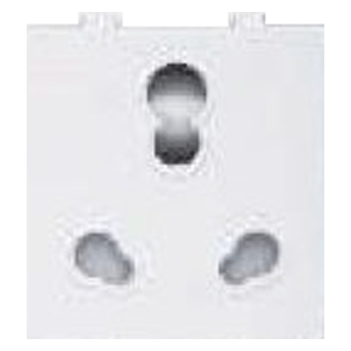 GREAT WHITE MAKE FIANA 10A & 20A TWIN POWER SOCKET COLOUR WHITE