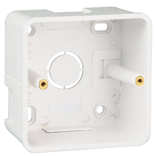 GREAT WHITE MAKE FIANA 1M & 2M SURFACE JUNCTION BOX COLOUR WHITE