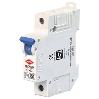 HPL MAKE 0.5AMP 10KA SINGLE POLE C-CURVE TECHNO MINIATURE CIRCUIT BREAKER MID TRIP TECHNOLOGY