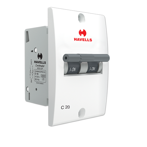 Havells Double Pole Mini 20Amp MCB