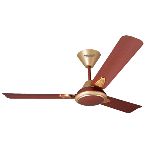 "Maharaja Whiteline 1200mm 48"" Opal Ceiling Fan Colour Golden Brown"