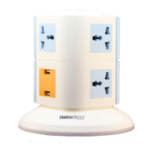 7 Way Universal Sockets and 2 Port USB Spike Guard