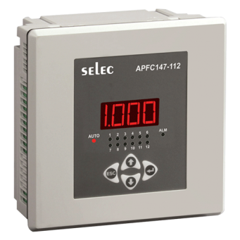 SELEC MAKE 12 STEP AUTOMATIC POWER FACTOR CONTROLLER