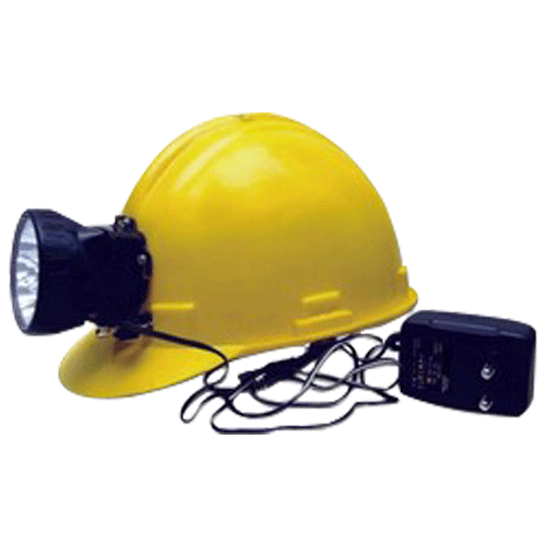 SMART LIGHT MAKE 6V HELMET WITH RECHARGABLE TOURCH COLOUR YELLOW