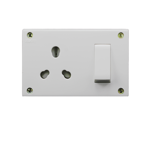 POLYCAB CLETA  SWITCH AND SOCKET COMBINED WITH BOX 16/6A NON-MODULAR TYPE