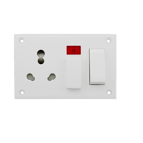 Polycab Cleta Five In One Combined 6A Non Modular Switch Socket