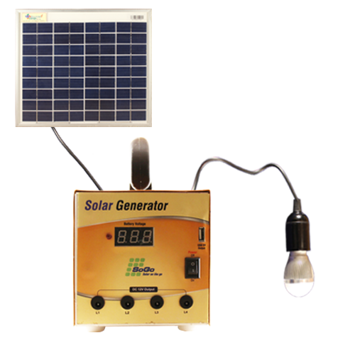 Solar power generator with Inbuilt mobile charger