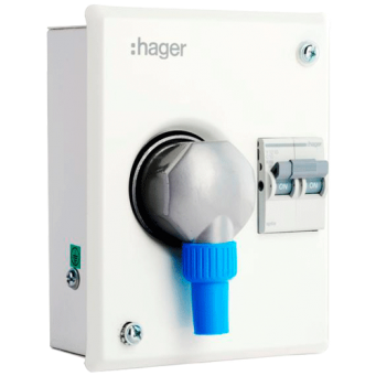 HAGER MAKE 10A 2PIN SC 1 MODULE NOVELLO PLUG AND SOCKET OUTLET