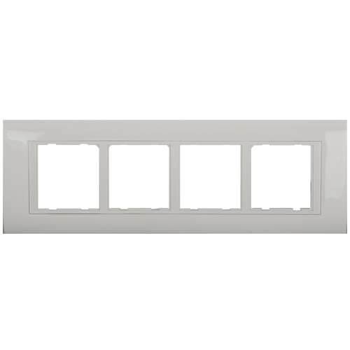 ANCHOR MAKE PENTA MODULAR 8 MODULE HORIZONTAL PLATE WITH INNER FRAME WHITE - 65908