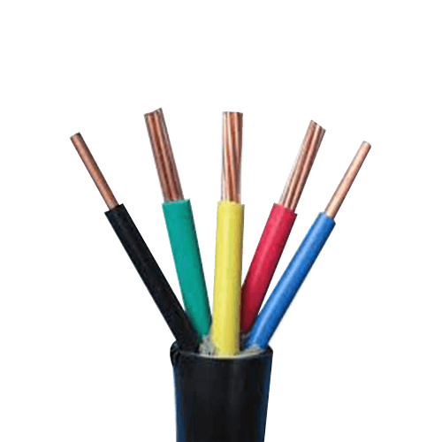 Polycab PVC Industrial Flexible 0.5 sq mm 5 Core FR Black 1100V Copper Conductor 100 Mtr Coil