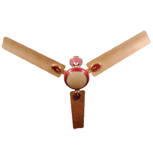"Almonard 1200mm 48"" Metalic Ceiling Fan Colour Cherry Red"