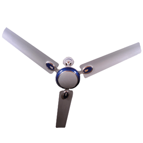 "Almonard 1200mm 48"" Metalic Ceiling Fan Colour Silver Blue"