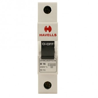 Havells Single Pole MCB 16 amp B Series