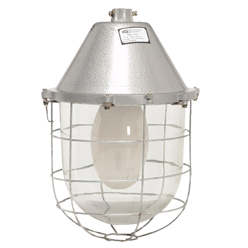 CG Industrial Luminaire Non Int Dust Proof W-Glass 100w Gls