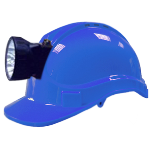 SMART LIGHT MAKE 6V HELMET WITH RECHARGABLE TOURCH COLOUR BLUE