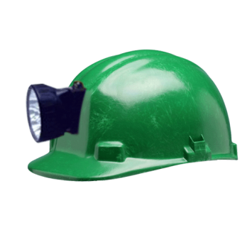 SMART LIGHT MAKE 6V HELMET WITH RECHARGABLE TOURCH COLOUR GREEN